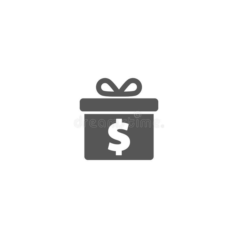 One dollar gift icon royalty free illustration