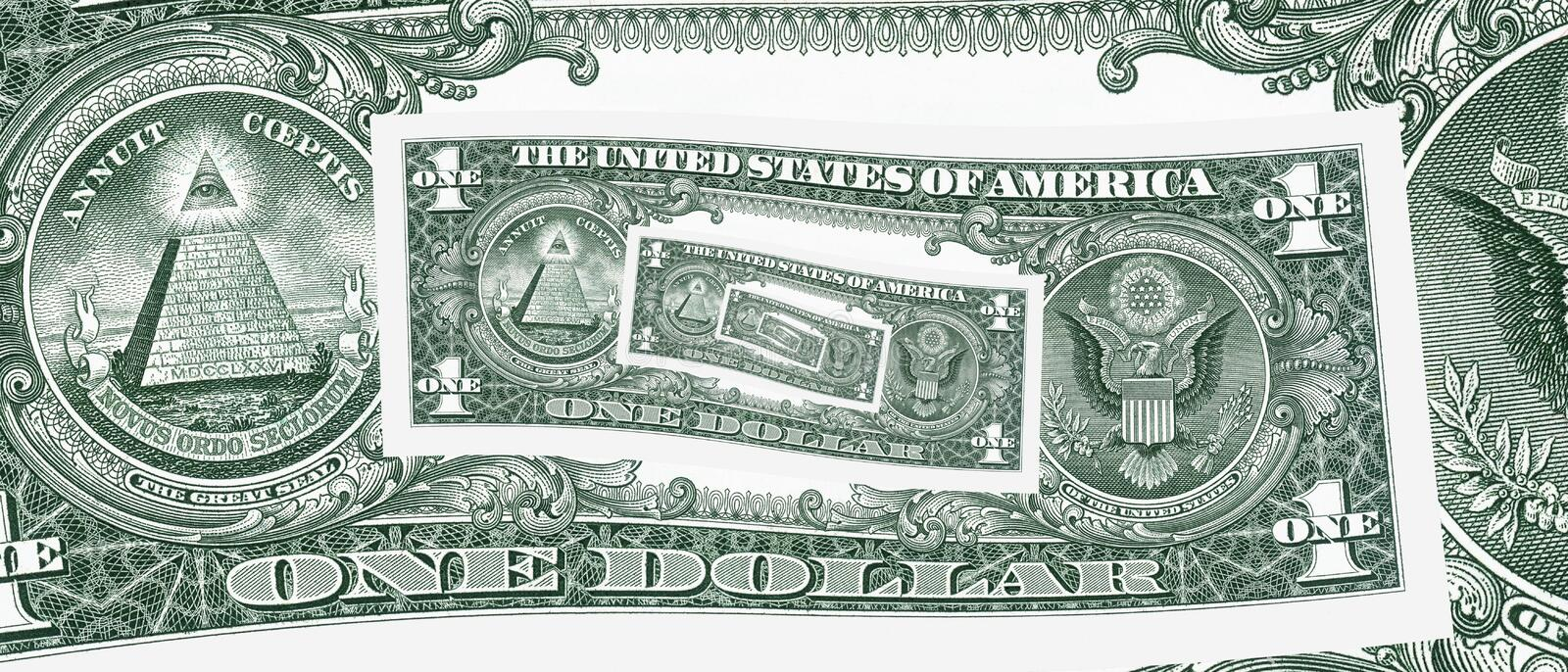Download One dollar loop hole stock image. Image of investment - 18379385