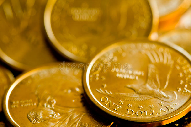Download One Dollar United States Of America Gold Coins Stock Photo - Image: 21587728