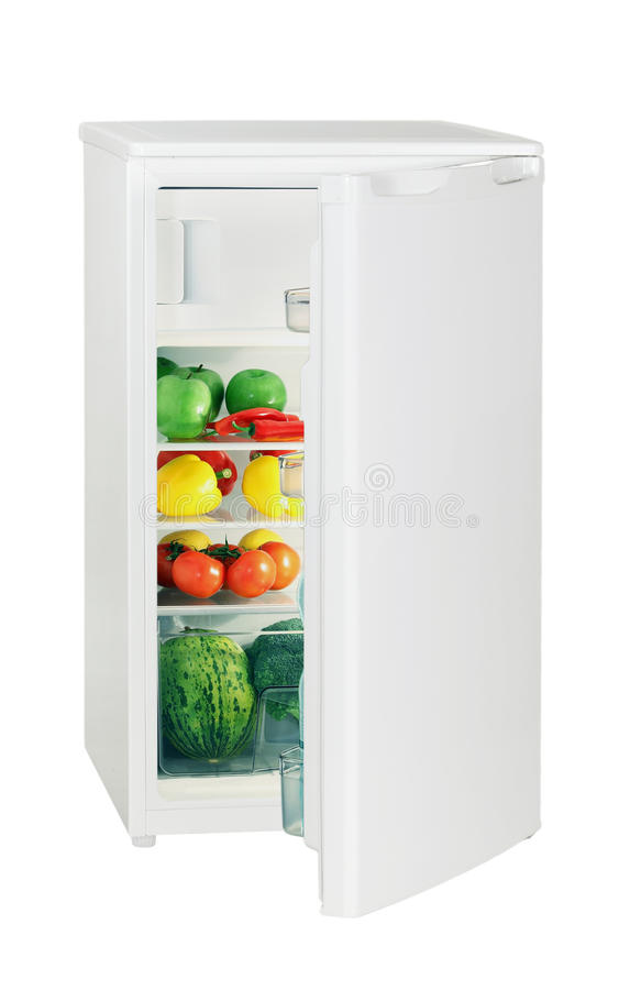One Door Refrigerator Stock Photo