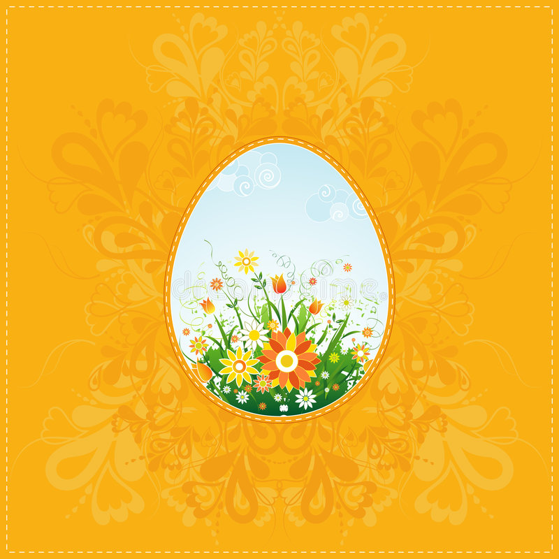 One easter eggs, vector stock image