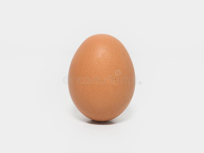 One egg on a white background, isolated. stock photo
