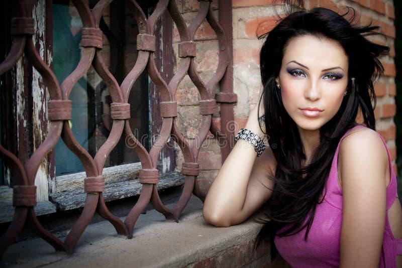 One elegant beautiful young woman stock photos