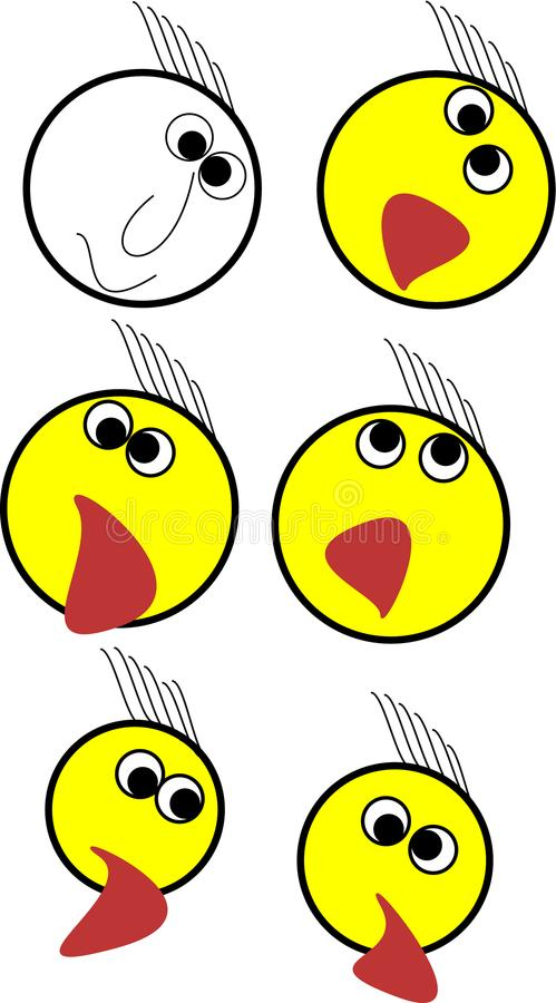 One emoji set illustration for any apps stock photography