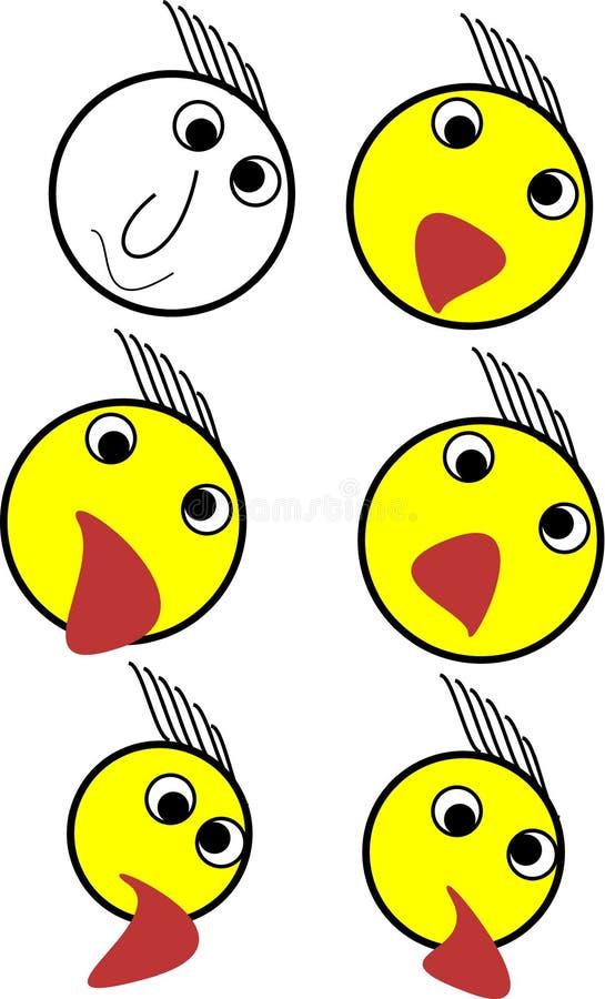 One emoji set illustration for apps stock photo