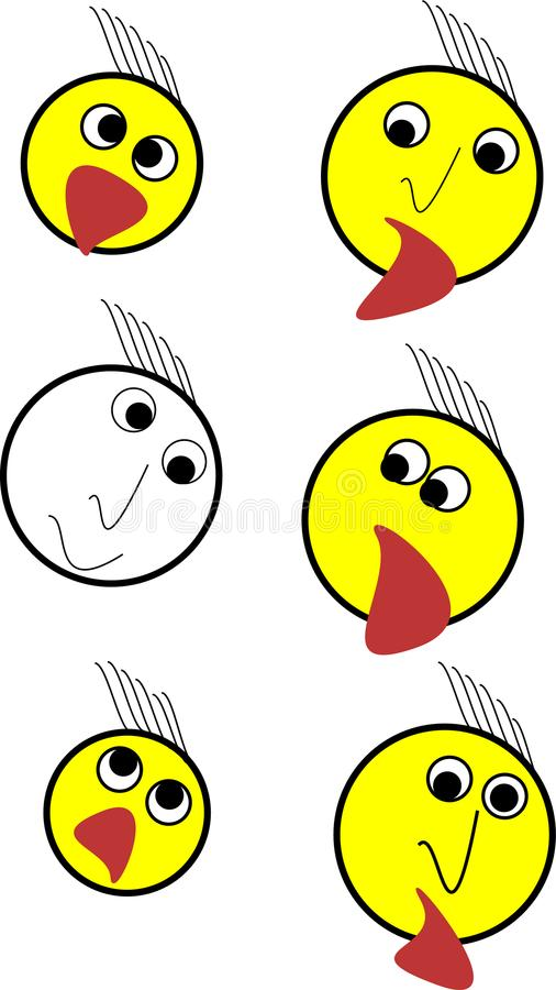 One emoji set illustration stock photos