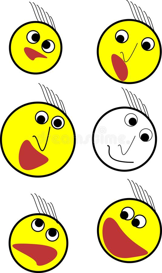 One emoji set illustrations royalty free stock photo