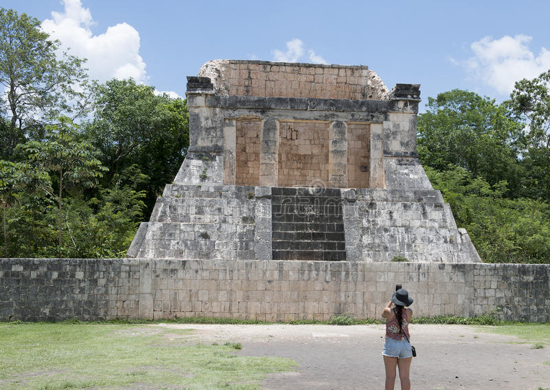 North Temple of the Great Ball Court, Chichen Itza royalty free stock photo