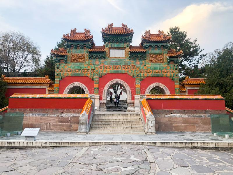 One of the entrance door of the Putuo Zongcheng Buddhist Temple. One of the Eight Outer Temples of Chengde, built between 1767 and 1771 and modeled after the stock image