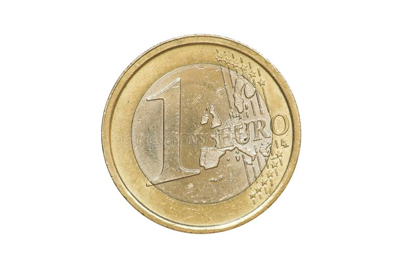 One Euro Coin 2002 front stock images