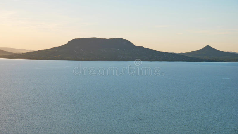 One of Europe`s largest lakes - Balaton. Popular tourist tours from many continental countries. Shallow fast warming lake royalty free stock images