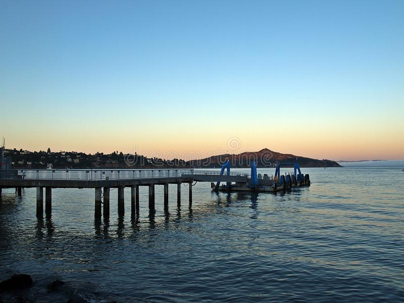 One evening at Sausalito stock image