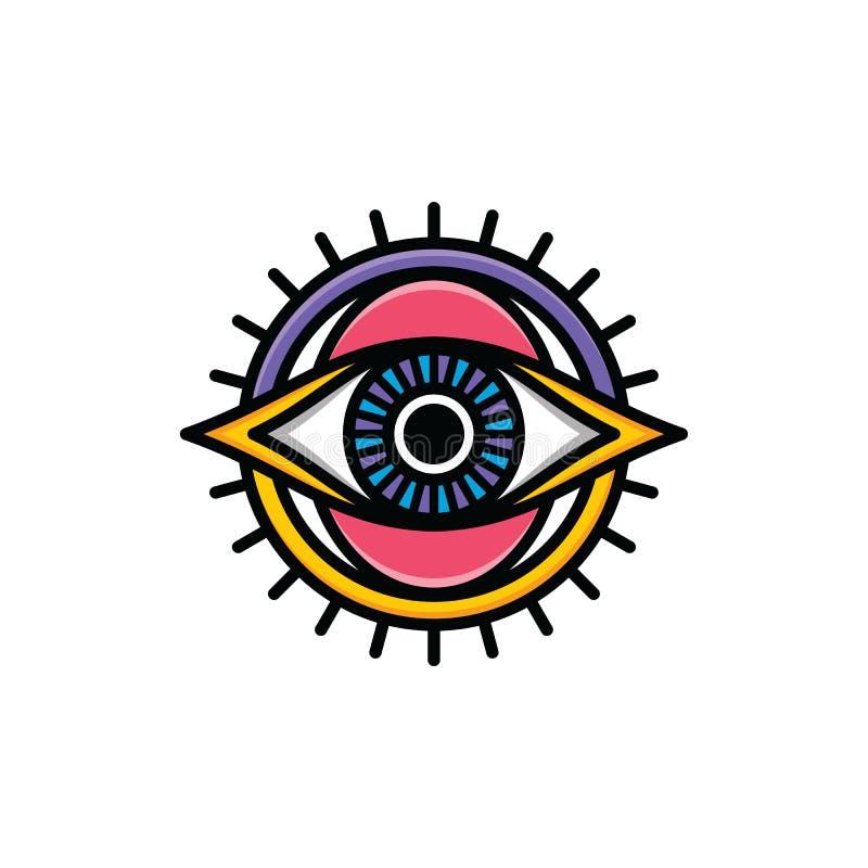 One Eye Of God Religious Sign Symbol Logo Logotype Stock