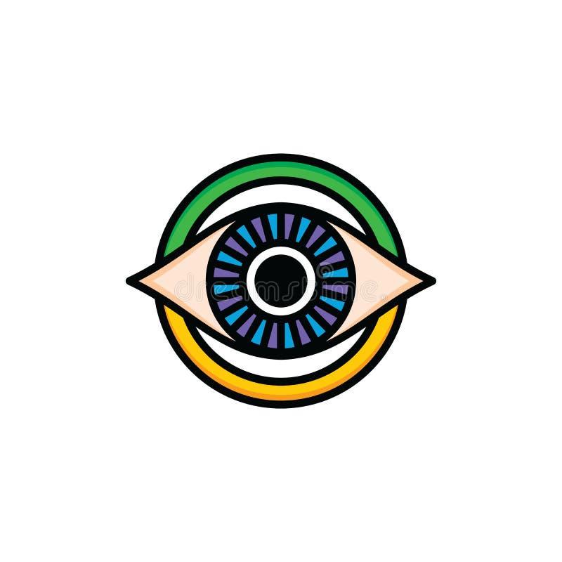 One Eye Of God Religious Sign Symbol Logo Logotype Stock Vector