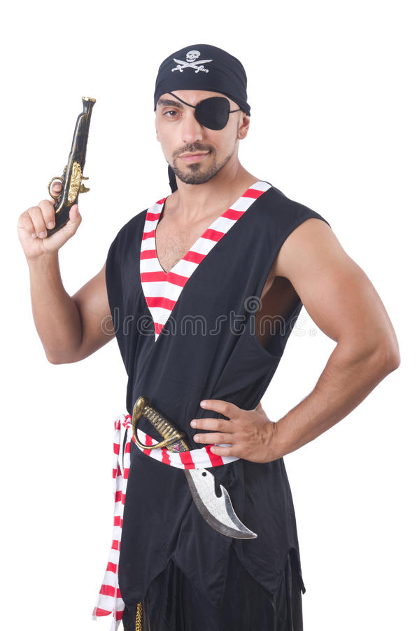 Download One eyed pirate stock image. Image of historic, male - 33764181