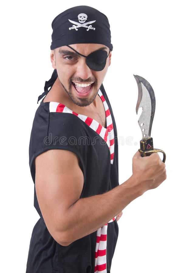 Download One eyed pirate stock image. Image of bandit, isolated - 34287187