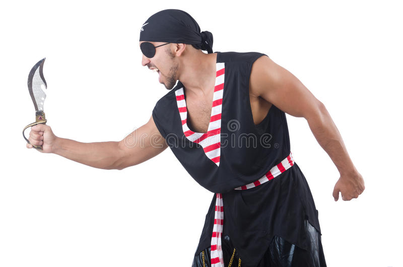 Download One eyed pirate stock photo. Image of clothing, isolated - 35070386