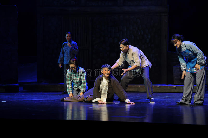 One family of frustration- Jiangxi opera a steelyard. Jiangxi opera a steelyard is adapted from a true story: the last century fortys, the protagonists father royalty free stock photos