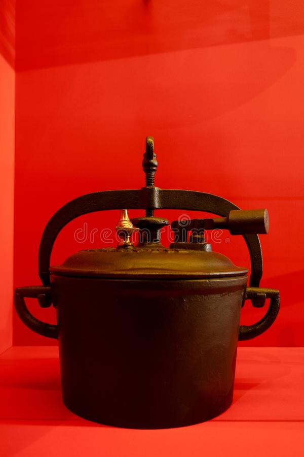 One of the firsts pressure cookers royalty free stock photography