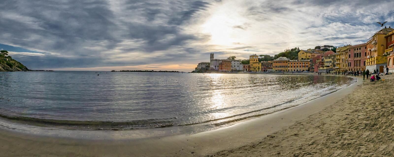 Bay of silence in Sestri Levante royalty free stock image