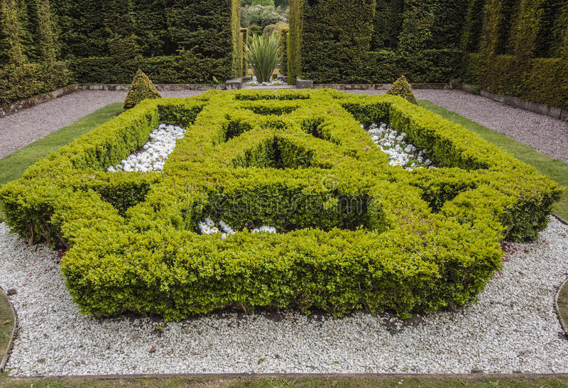 One of the formal gardens at Biddulph Grange. Biddulph, Stoke-on-Trent, Englsnd royalty free stock images