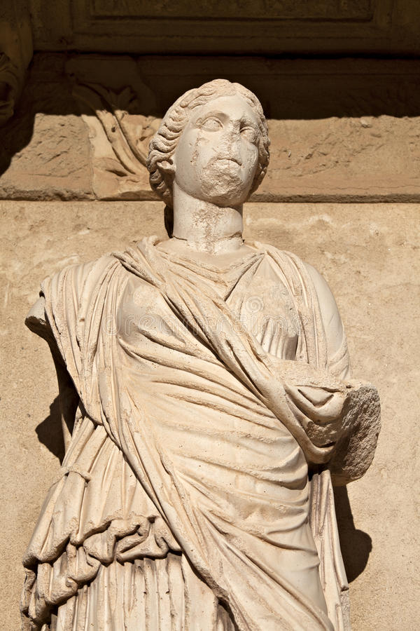 Download One Of Four Virtue Statue In Census Library Stock Photo - Image: 22574182