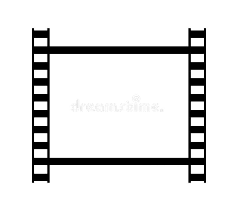 One frame of retro photo film strip royalty free illustration