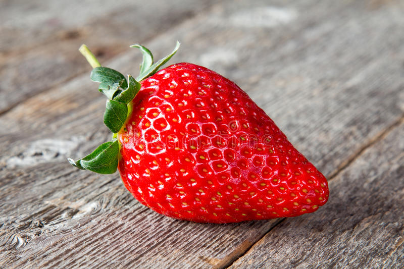 One fresh big red strawberry royalty free stock photos