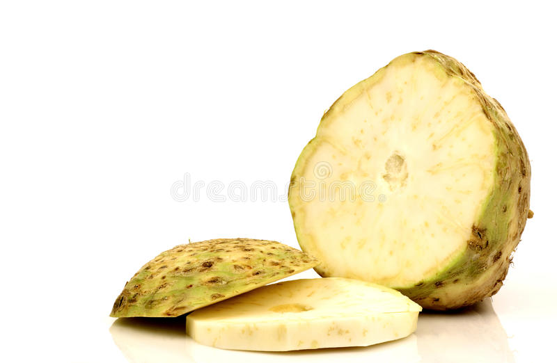Download One Fresh And Cut Celery Root Stock Image - Image: 16295261