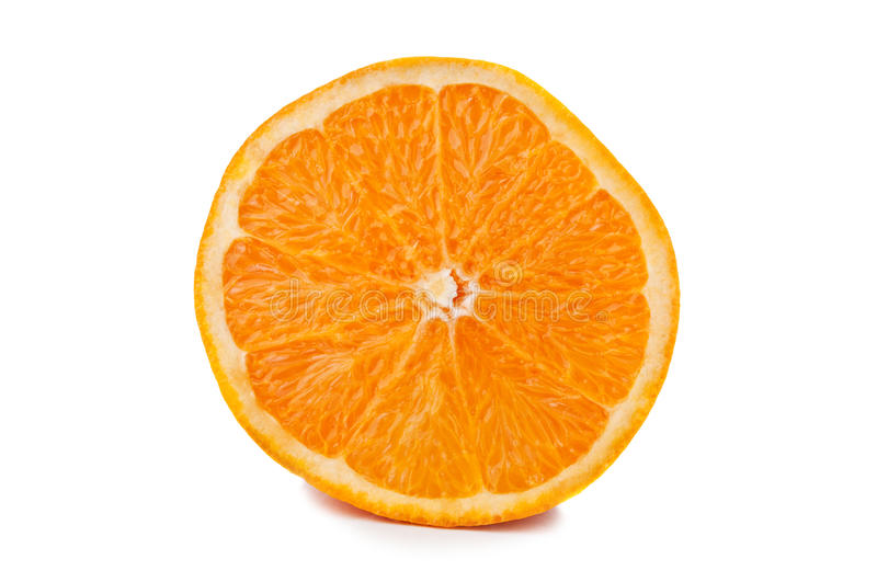 One fresh orange. On a white background royalty free stock photos