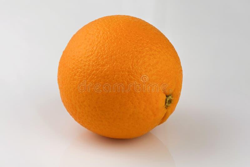 One fresh ripe orange royalty free stock photos