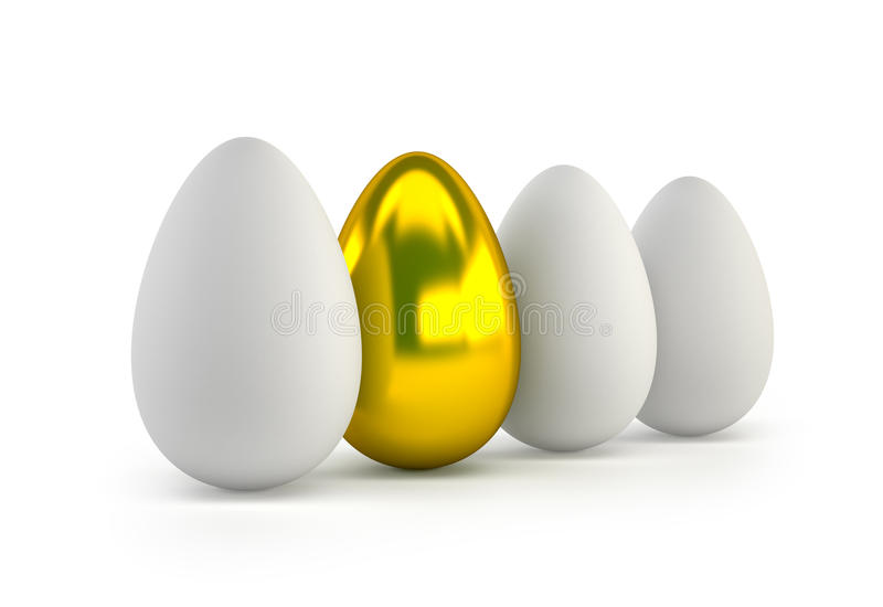 One golden egg stock illustration