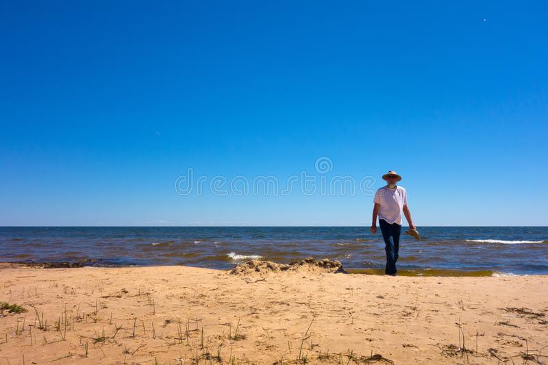 Lake superior in the summertime royalty free stock image