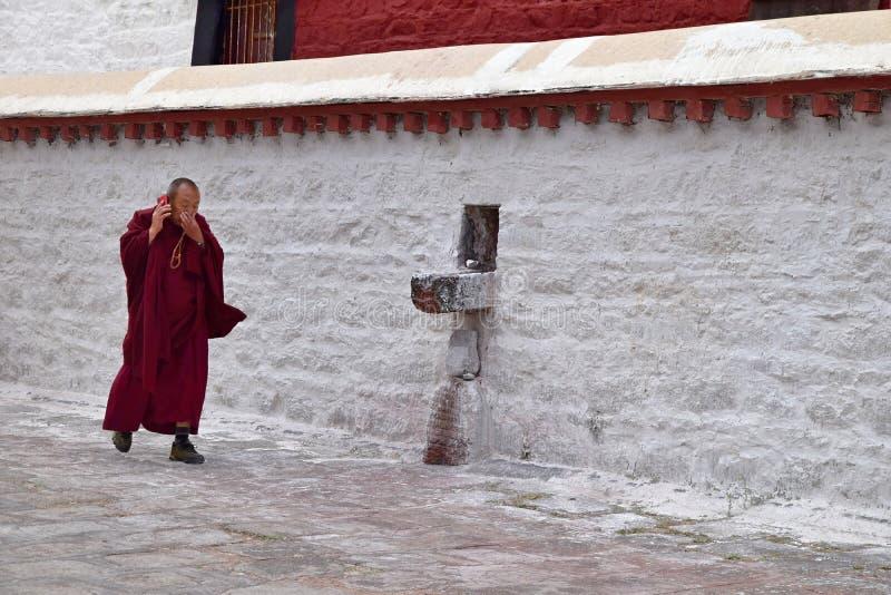 SERA MONASTERY, LHASA, TIBET - CIRCA OCTOBER 2019: One of the great three Gelug university monasteries of Tibet royalty free stock photography