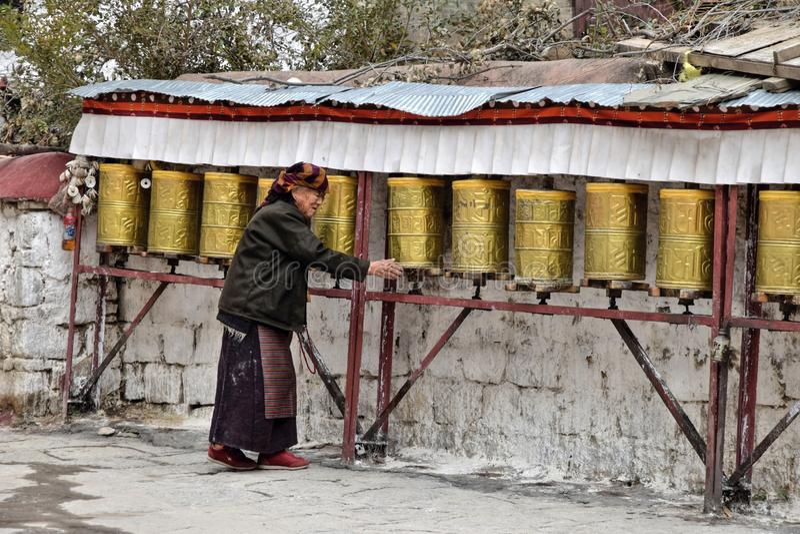 SERA MONASTERY, LHASA, TIBET - CIRCA OCTOBER 2019: One of the great three Gelug university monasteries of Tibet royalty free stock photos