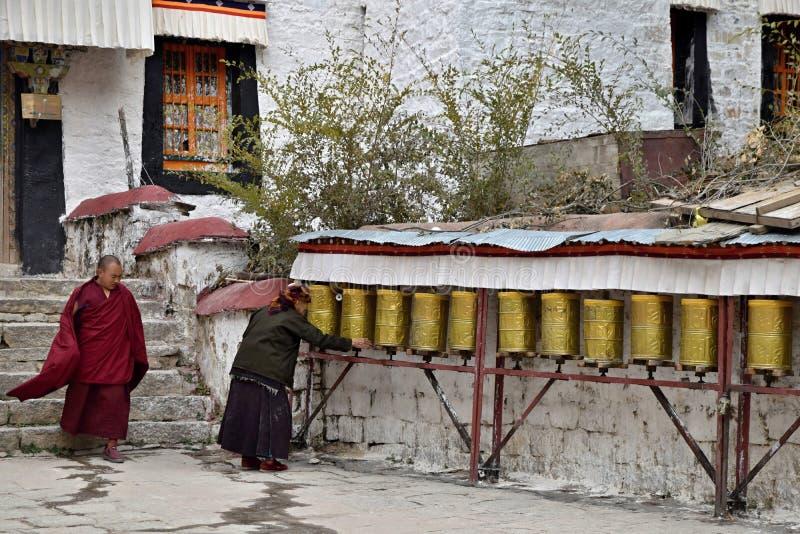 SERA MONASTERY, LHASA, TIBET - CIRCA OCTOBER 2019: One of the great three Gelug university monasteries of Tibet stock photo