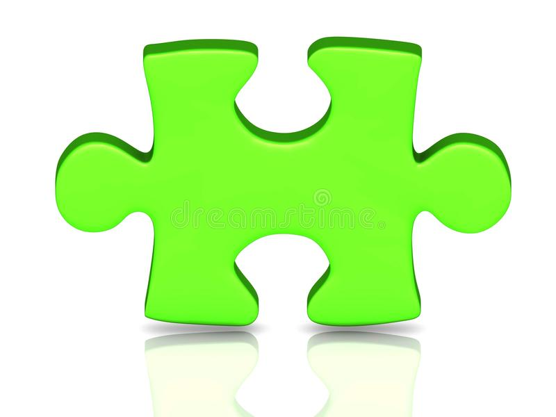 Download One green piece stock illustration. Image of build, managed - 26947274