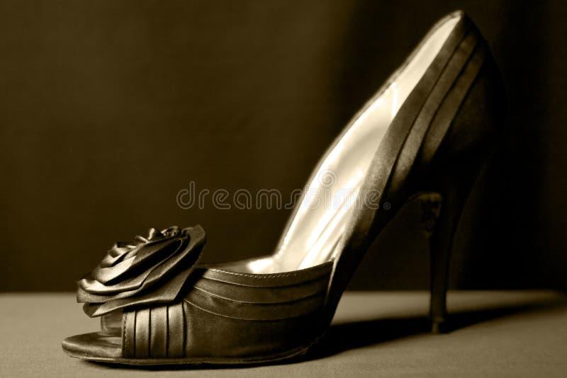 One Green Shoe Stock Photo