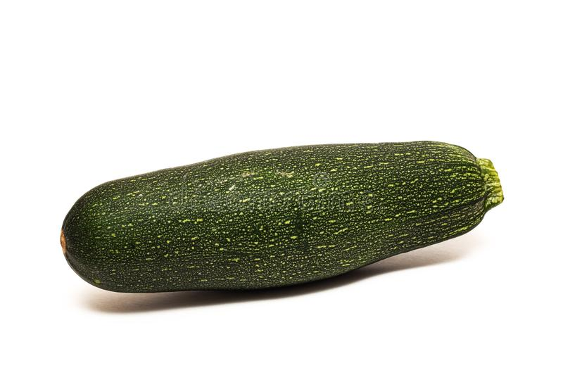 One green zucchini, isolated on white background stock photos