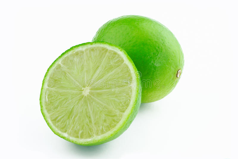 One and half lime royalty free stock image
