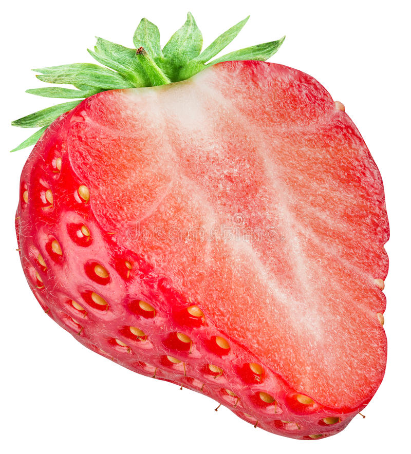 Free One Half Of Strawberry On The White Background. Royalty Free Stock Photo - 68308875