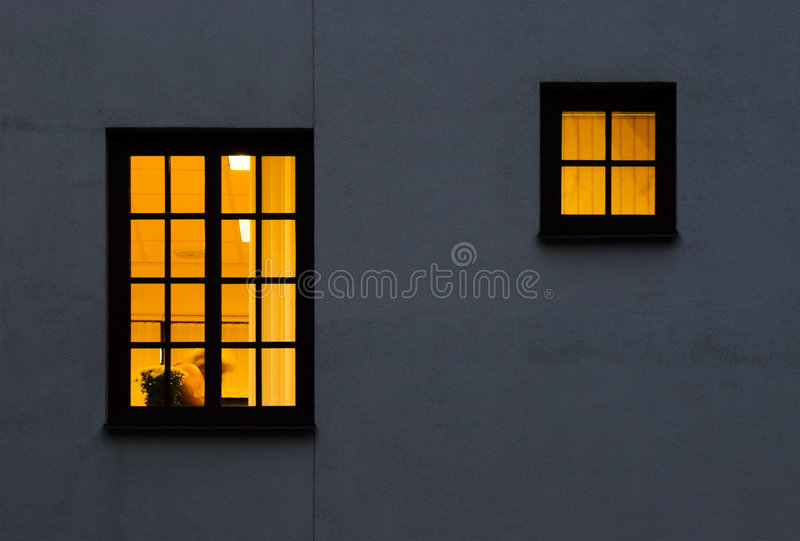 Download One And Half Yellow Windows Stock Photo - Image: 2055378