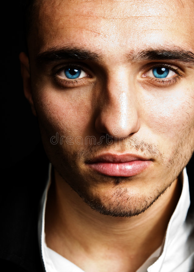 Free One Handsome Man With Beautiful Blue Eyes Royalty Free Stock Image - 7981396