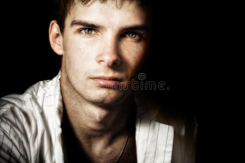 One handsome masculine man with nice eyes royalty free stock photo