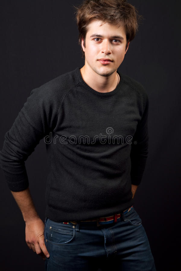 Download One Handsome Young Man In Jeans Stock Photo - Image: 11880724