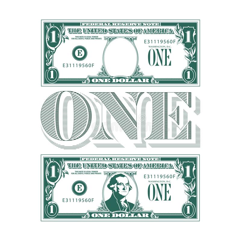 One heck of a tribute to the one dollar bill. For your print or web needs royalty free illustration