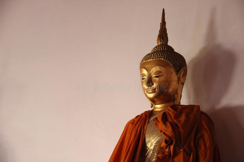 One Holy Golden Buddha royalty free stock image