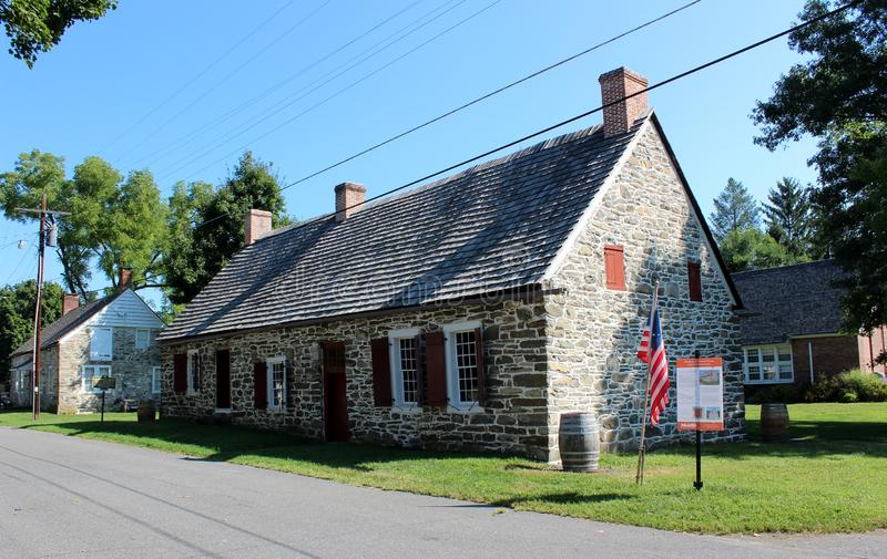 One of 30 homes built in the 17th century, when the Huguenots escaped persecution, New Paltz, New York, 2018 stock image