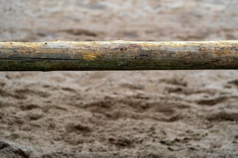 One horizontal log on an indistinct background stock photography