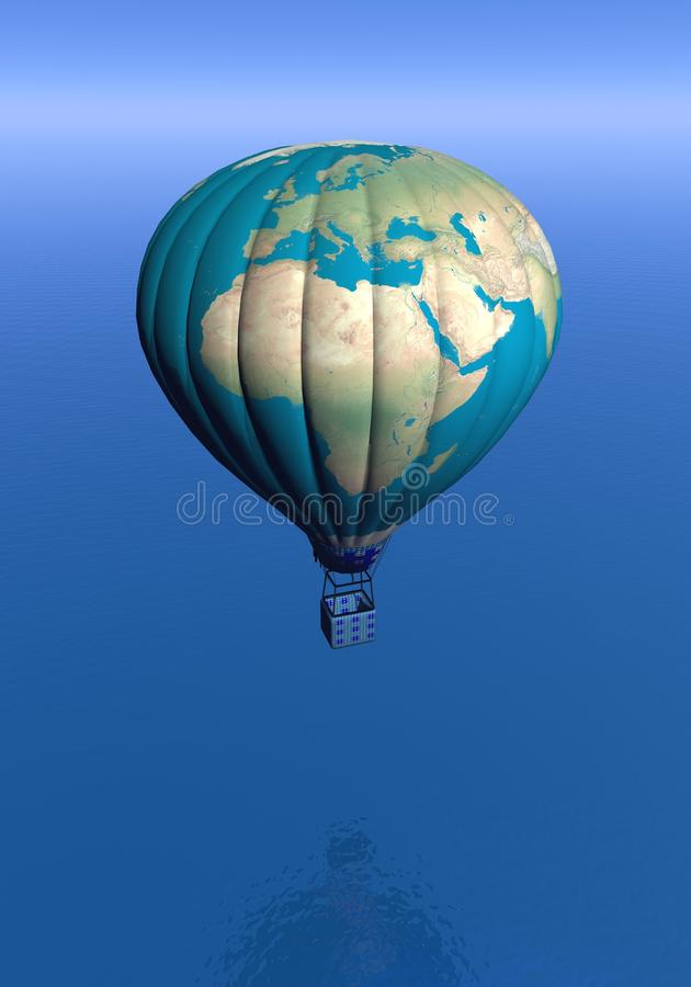 Hot air balloon with earth map 3d render stock illustration download hot air balloon with earth map 3d render stock illustration illustration of balloon gumiabroncs Gallery